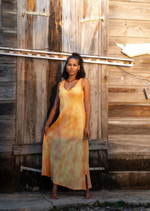 Maogany_Robe Annie Mélange Jaune-Orange (2)